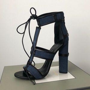 TOM FORD, Denim Patchwork Sandals